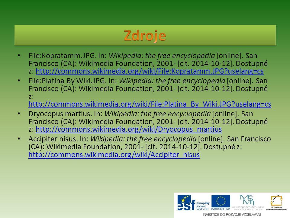 File:Kopratamm.JPG. In: Wikipedia: the free encyclopedia [online]. San Francisco (CA): Wikimedia Foundation, 2001- [cit. 2014-10-12]. Dostupné z: http