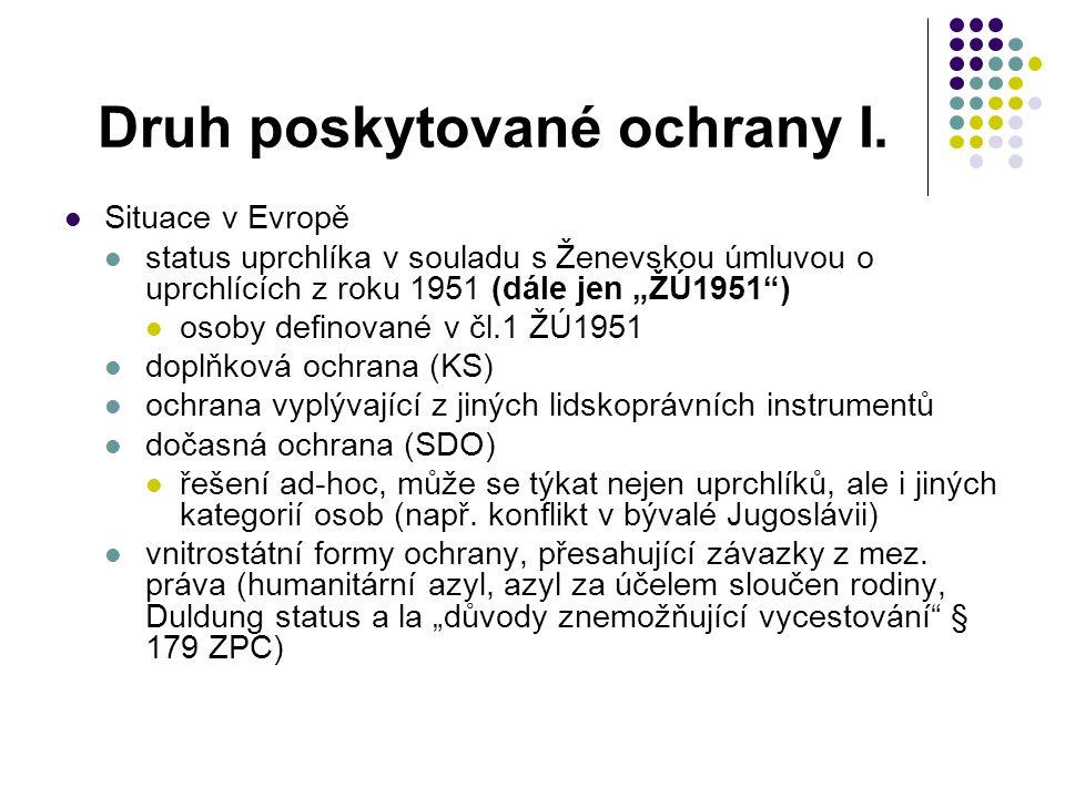 Různé definice V.Kvalifikační směrnice 2004/83/ES, čl.