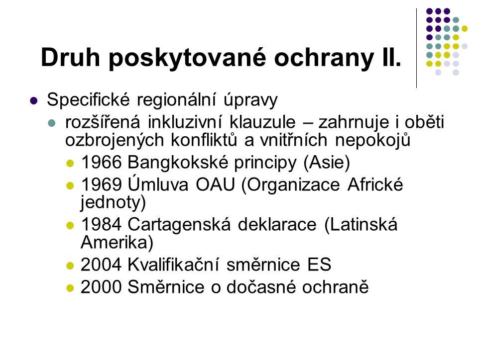 Kontext ŽÚ1951 Těsně po WWII Produkt Studené války Minimum procesních ustanovení Chybí soudní mechanismus (žádný Mezinárodní uprchlický soud ) Nic o informacích o zemi původu (COI)