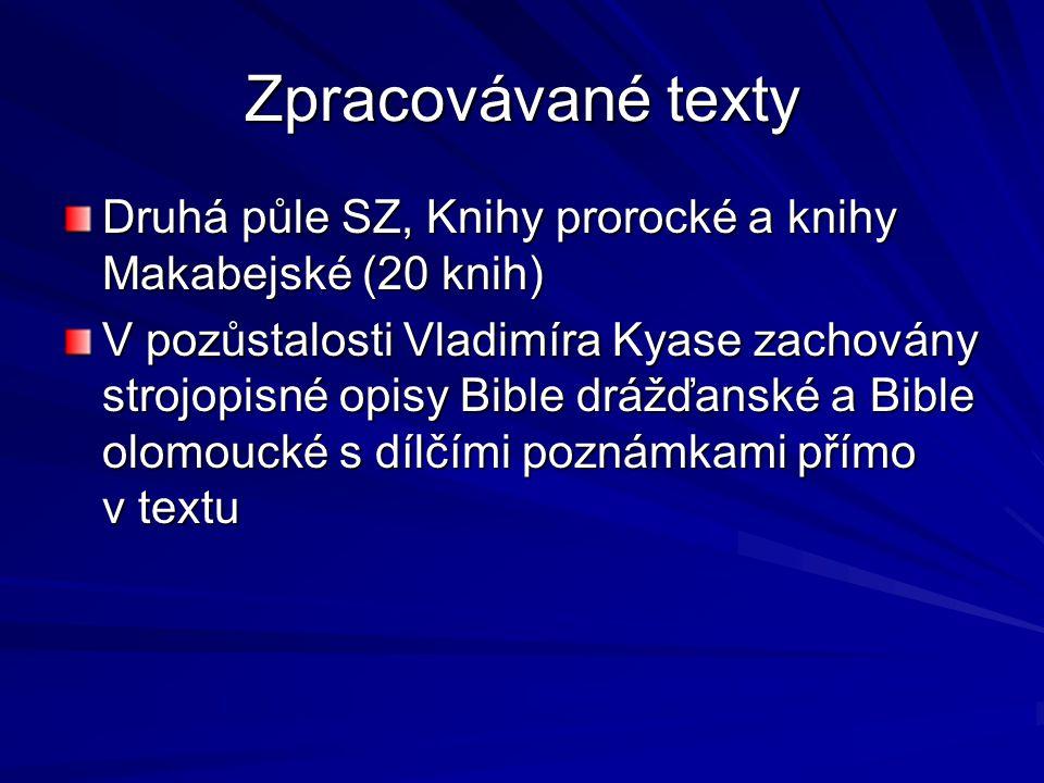 Rozsah užití variantní textů