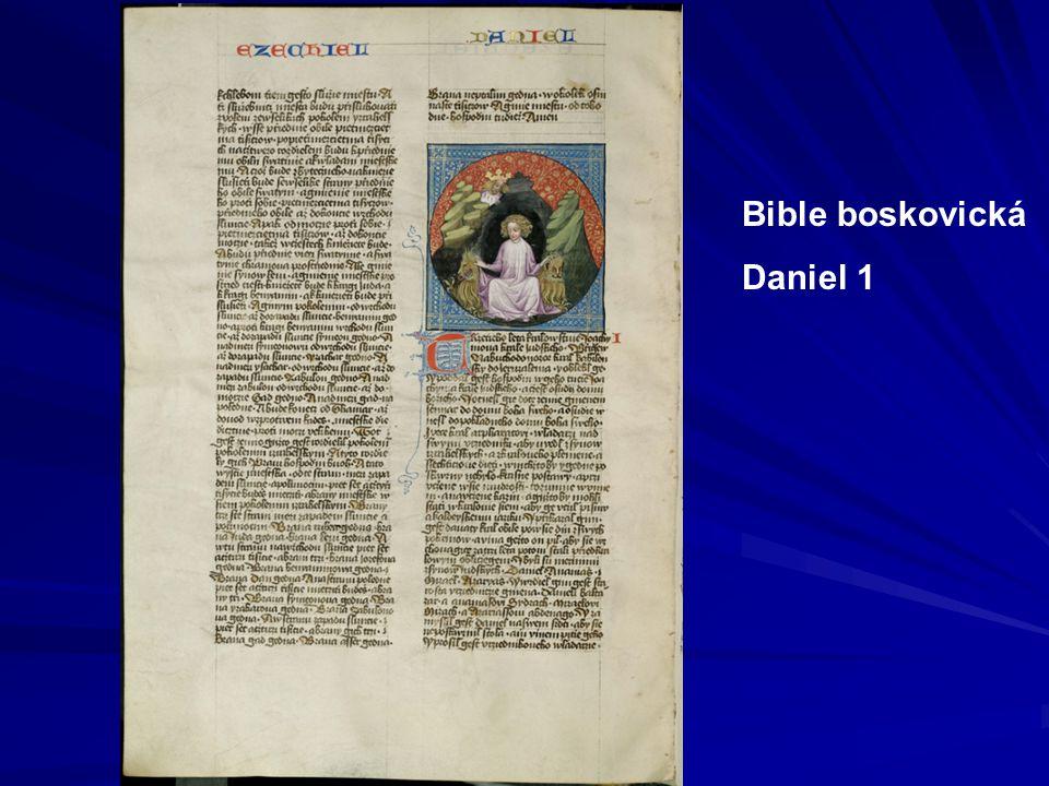 Variantní rukopisy 3 Bible litoměřicko-třeboňská 1411 – 1414 Textově blízká Bibli olomoucké, korektorské zásahy