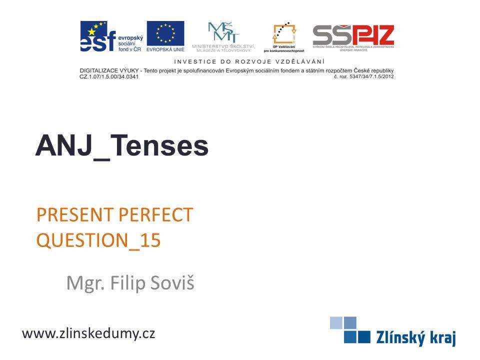 PRESENT PERFECT QUESTION_15 Mgr. Filip Soviš ANJ_Tenses www.zlinskedumy.cz