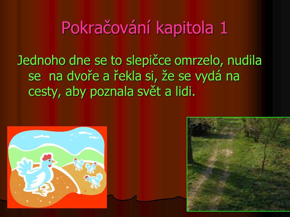 Kapitola 1 Jedna slepička žila na statku na obrovském dvoře se spoustou jiných slepiček.