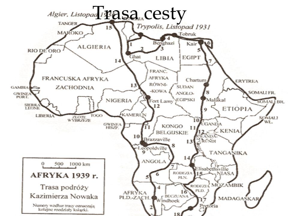 Tam i z powrotem, czyli trasa podróży Nejdříve vlakem Říma odtud na kole do Neapole přeplout trajektem Středozemní moře Pouť z města Tripolis několik tisíc kilometrů k vzdálenému Mysu Igielnemu.