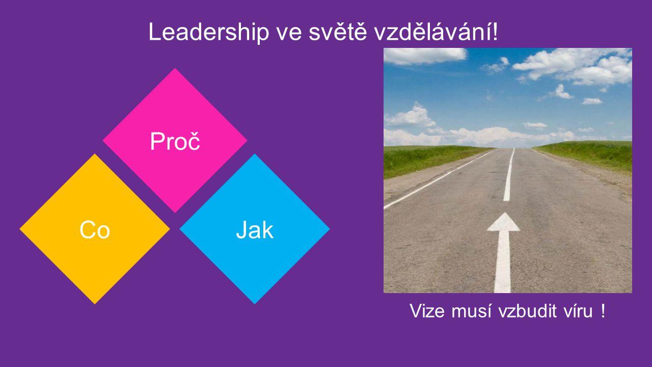 Leadership ve světě vzdělávání! Proč CoJak Vize musí vzbudit víru !