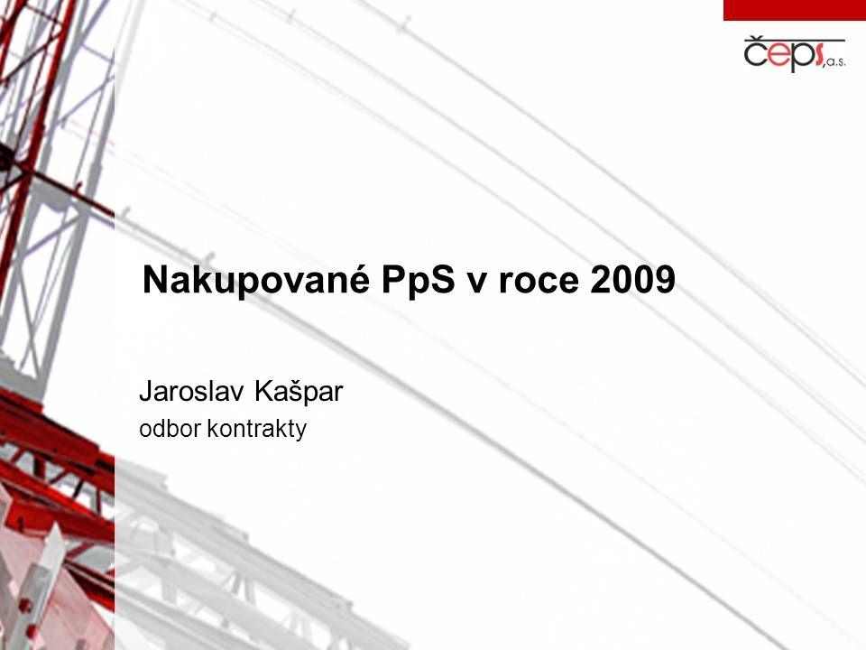 Nakupované PpS v roce 2009 Jaroslav Kašpar odbor kontrakty