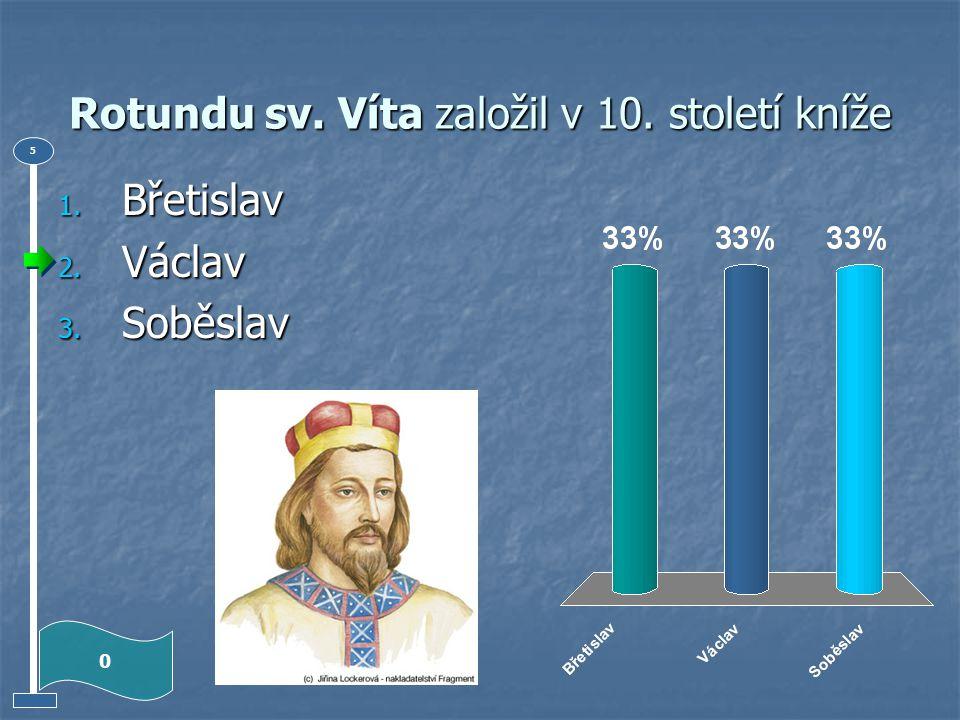 První hradiště s křesťanskou svatyní vybudoval koncem 9. století kníže 1. Bořivoj 2. Václav 3. Boleslav 0 5