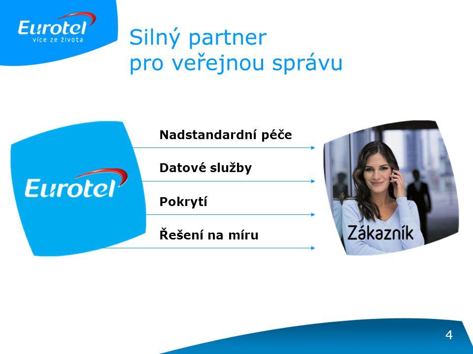 4 Silný partner pro veřejnou správu Nadstandardní péče Řešení na míru Pokrytí Datové služby