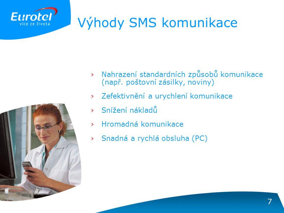 7 Výhody SMS komunikace ›Nahrazení standardních způsobů komunikace (např.