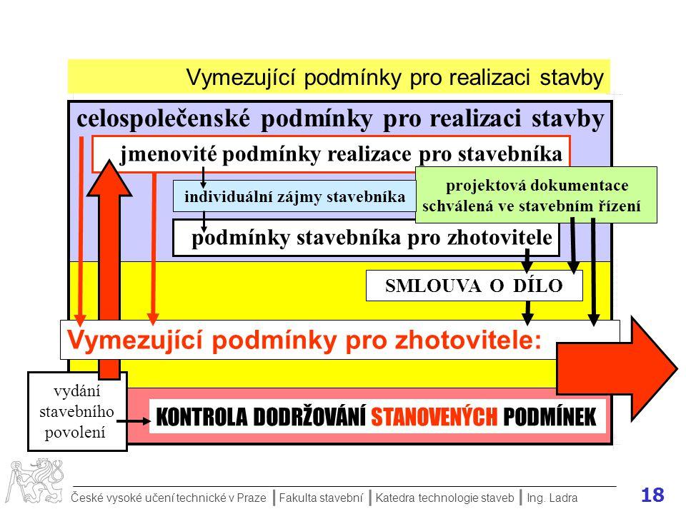 17 České vysoké učení technické v Praze Fakulta stavební Katedra technologie staveb II I Ing.