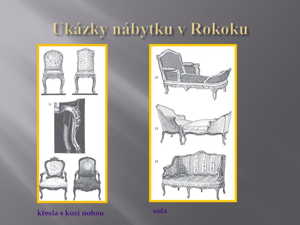  stolový nábytek je již drobnějších rozměrů a ovlivněn stolováním v Orientu – nízké stolky a podnosy  velká rozmanitost stolků (sklápěcí, přístavní, servírovací, odkladní – gueridon, hrací různých tvarů, dámské psací stolky, toaletní stolky)  vznikl psací stůl s žaluziovým uzávěrem a třemi patry zásuvek a přihrádek  spojením komody a kabinetu se rozšířil víceúčelový nábytek – sekretář( má výklopnou nebo částečně výsuvnou pracovní plochu)  plochy korpusů a čela byly různě zprohýbány www.zlinskedumy.cz