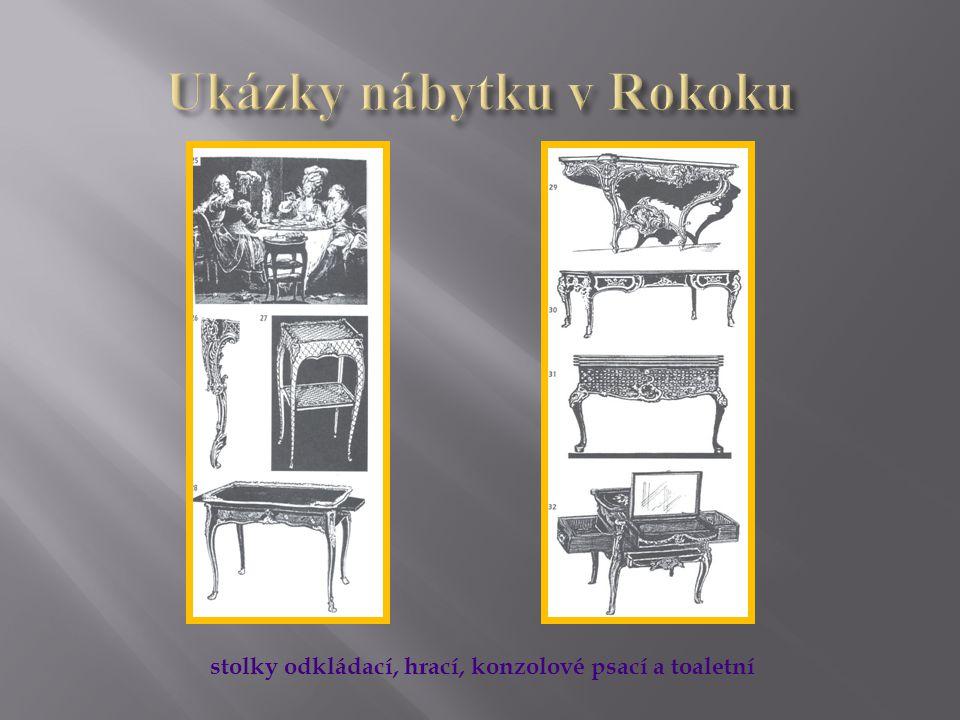 Konzolový zlacený stolekKonzolový dýhovaný a řezbovaný stolek