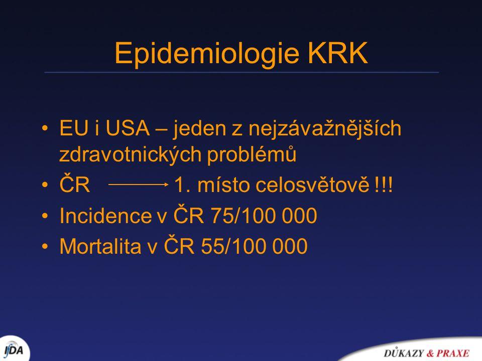 Epidemiologie KRK EU i USA – jeden z nejzávažnějších zdravotnických problémů ČR 1.