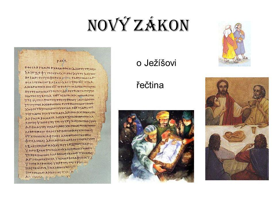Nový zákon o Ježíšovi řečtina