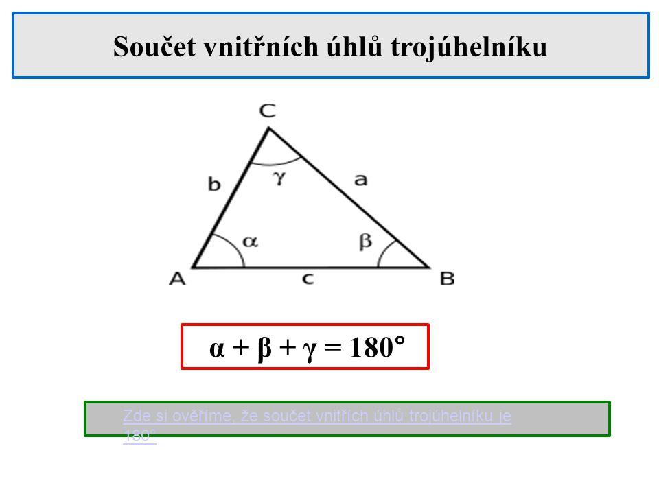 Existuje trojúhelník, který má dva tupé úhly.