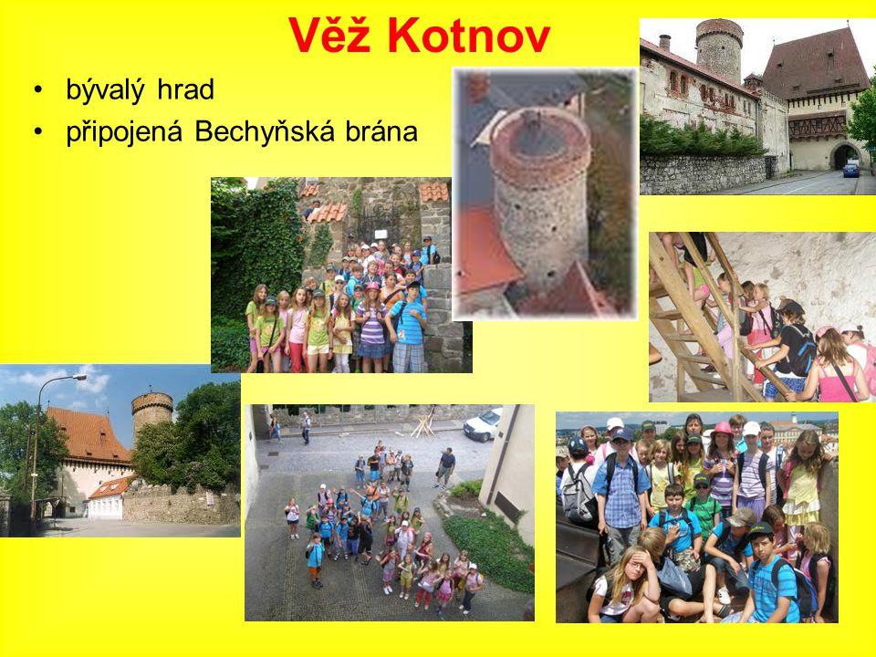 bývalý hrad připojená Bechyňská brána Věž Kotnov