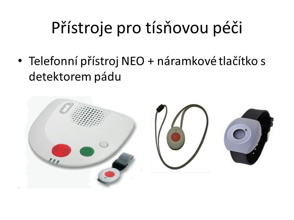 Telefonní přístroj NEO + náramkové tlačítko s detektorem pádu