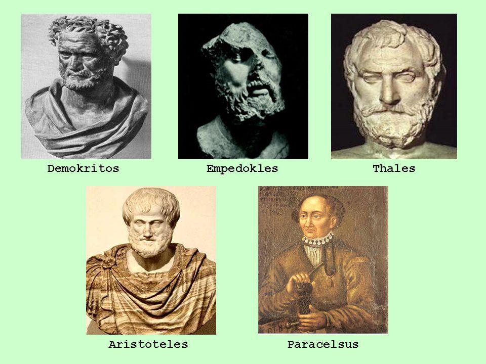 DemokritosEmpedoklesThales AristotelesParacelsus