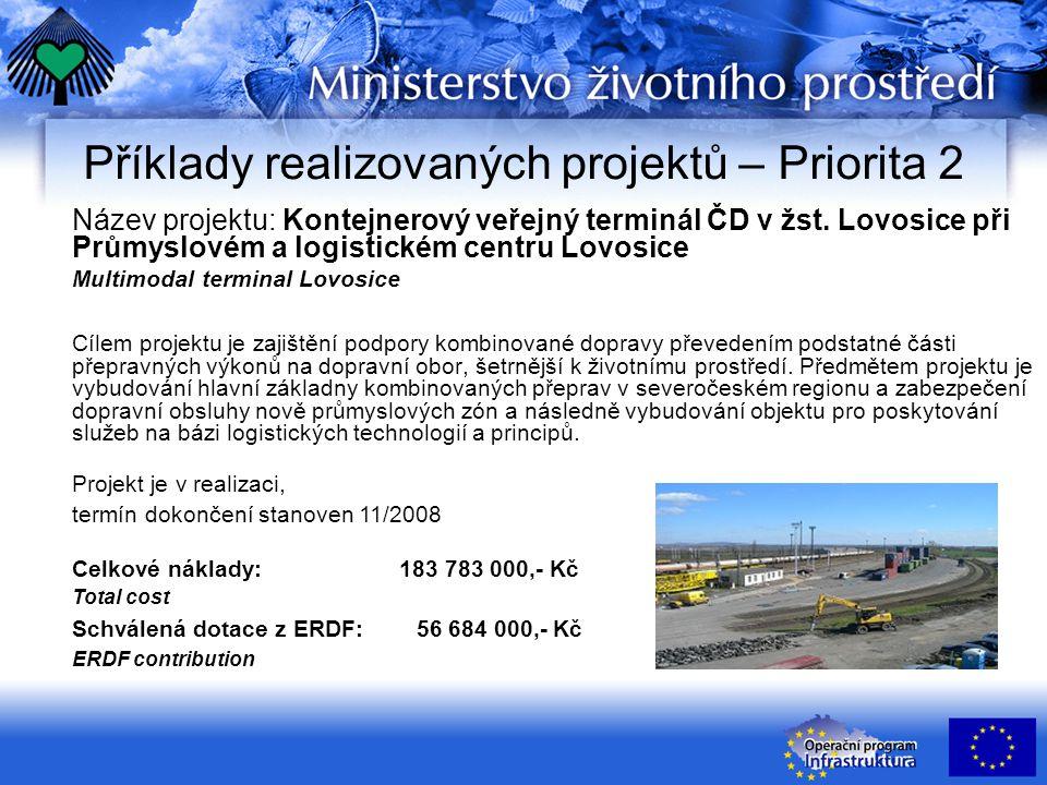 Název projektu: Kontejnerový veřejný terminál ČD v žst.