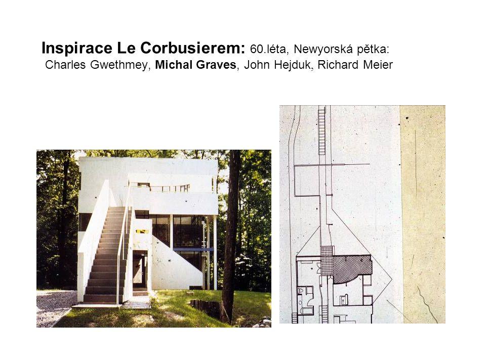 Inspirace Le Corbusierem: 60.léta, Newyorská pětka: Charles Gwethmey, Michal Graves, John Hejduk, Richard Meier