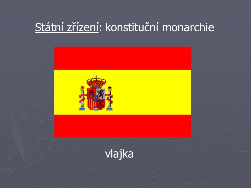 Státní zřízení: konstituční monarchie vlajka