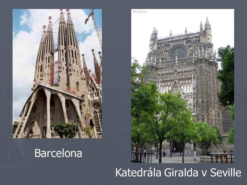 Barcelona Katedrála Giralda v Seville