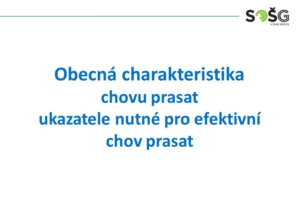 Obecná charakteristika chovu prasat ukazatele nutné pro efektivní chov prasat