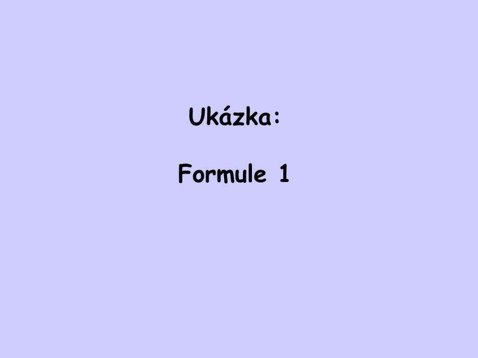 Ukázka: Formule 1