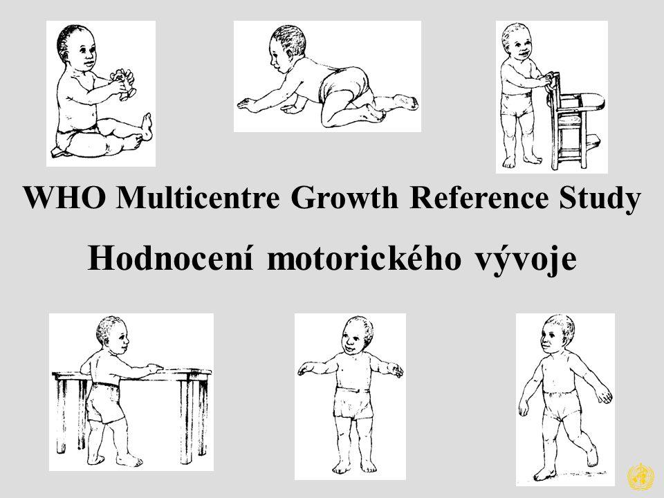 WHO Multicentre Growth Reference Study Hodnocení motorického vývoje