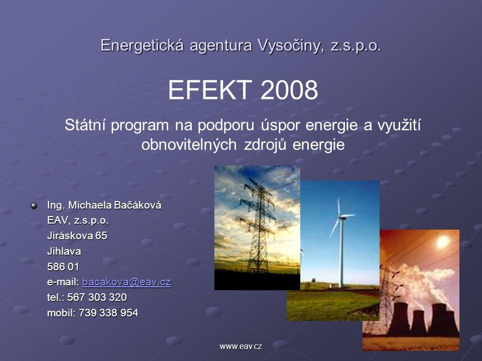 1www.eav.cz Energetická agentura Vysočiny, z.s.p.o.