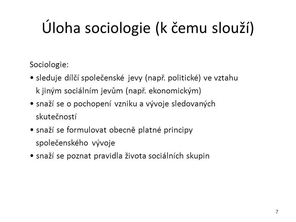 Použité zdroje Buriánek, J.Sociologie.Praha: Fortuna, 2008.