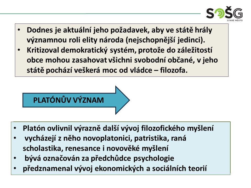 Charakterizujte Platónovu filozofii.Vysvětlete pojem hypostaze pojmů.