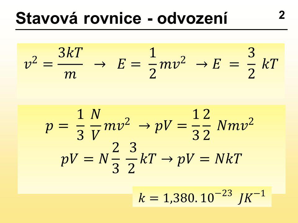 2 Stavová rovnice - odvození