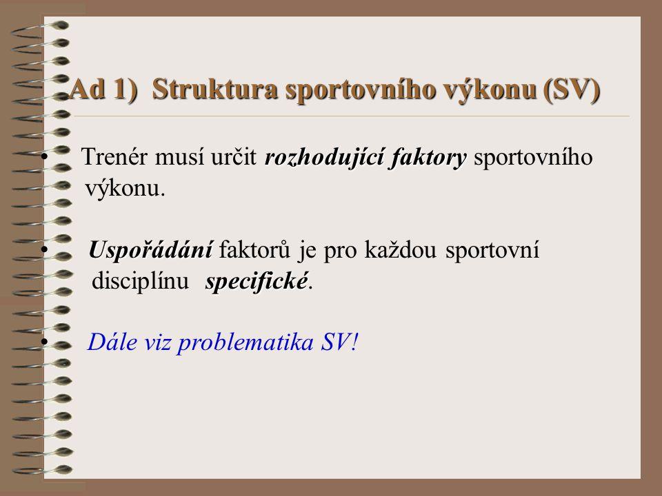 Systémové řízení ST – evidence tréninku Sumace tréninkových ukazatelů se provede po ukončení mikrocyklu, resp.