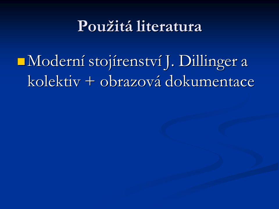 Použitá literatura Moderní stojírenství J.