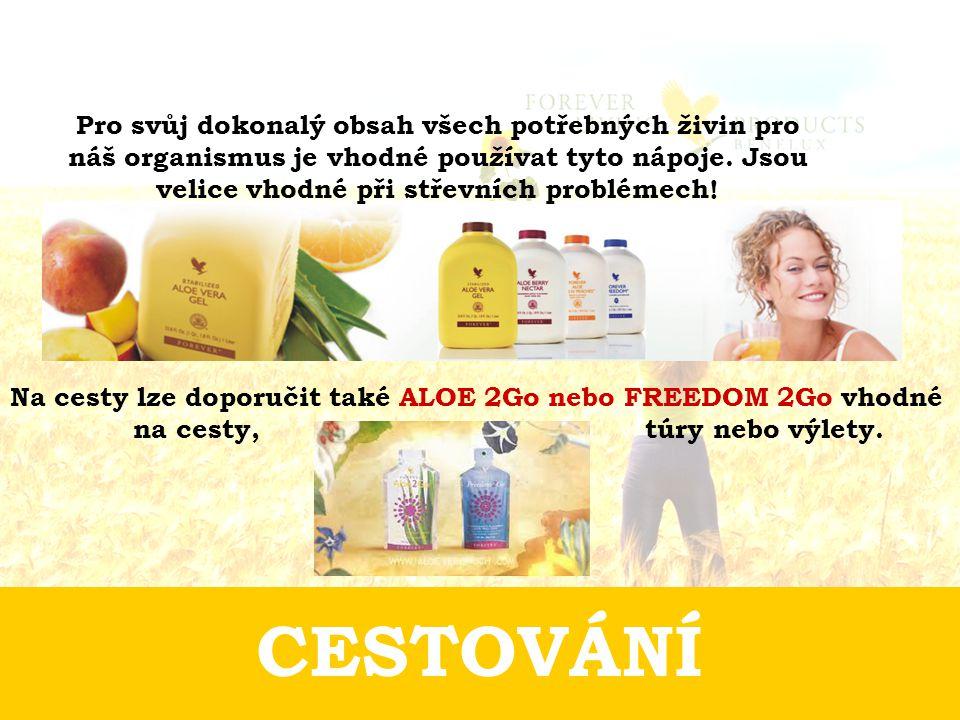 CESTOVÁNÍ Pro svůj dokonalý obsah všech potřebných živin pro náš organismus je vhodné používat tyto nápoje.