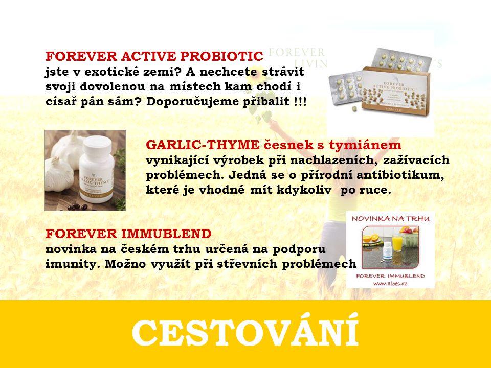 CESTOVÁNÍ GARLIC-THYME česnek s tymiánem vynikající výrobek při nachlazeních, zažívacích problémech.
