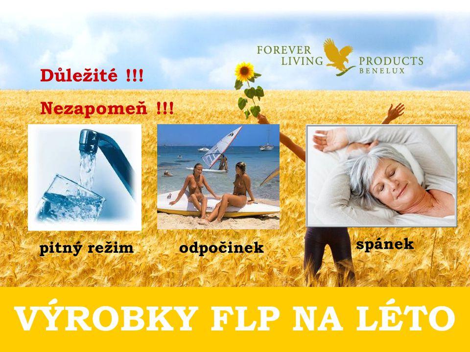 VÝROBKY FLP NA LÉTO Důležité !!! Nezapomeň !!! pitný režim odpočinek spánek