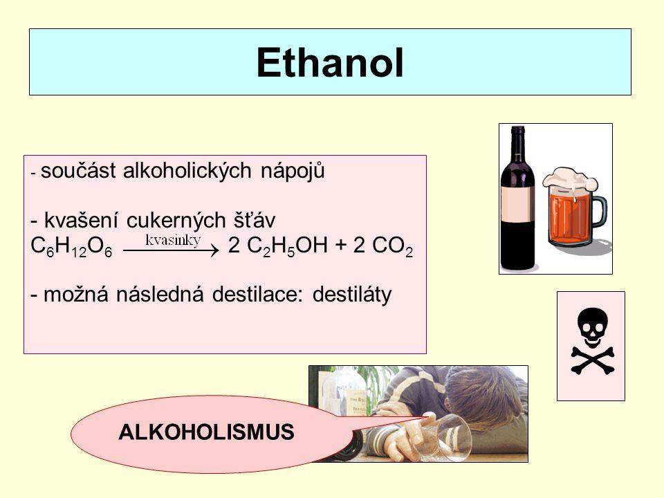 Ethylenglykol - bezbarvá olejová kapalina - složka nemrznoucích chladicích směsí, na výrobu plastů (PET) - jedovatý 