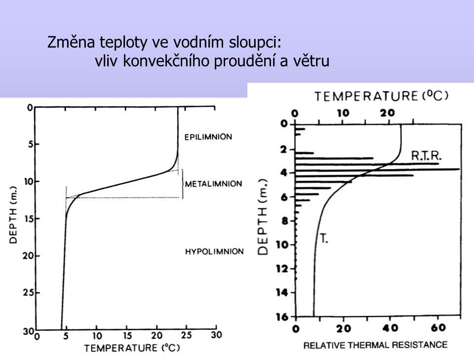 Sezónní vývoj teplotní stratifikace dimiktické nádrže mírného pásma