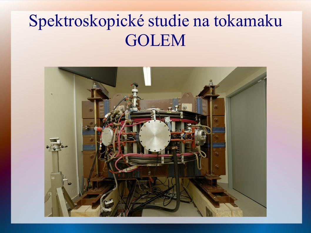 Spektroskopické studie na tokamaku GOLEM