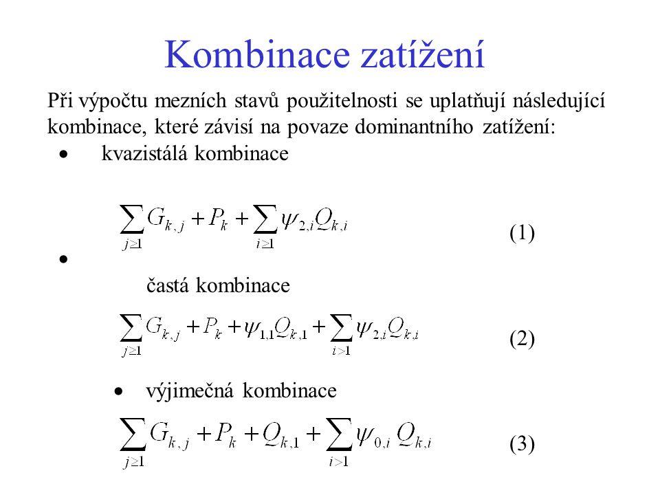 Vymezující štíhlost Betonové desky a nosníky:  c1 je součinitel závislý na tvaru průřezu (  c1 = 0,8 pro T průřezy s poměrem šířky příruby k šířce žebra větší než 3;  c1 = 1,0 v ostatních případech),  c2 je součinitel závislý na rozpětí (  c2 = 7/l pro l  7,0 m;  c2 = 1,0 pro l  7,0 m), je součinitel napětí tahové výztuže  s v extrémně namáhaném průřezu při časté kombinaci provozního zatížení,