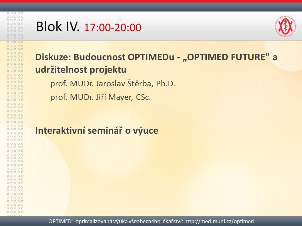 "Diskuze: Budoucnost OPTIMEDu - ""OPTIMED FUTURE"