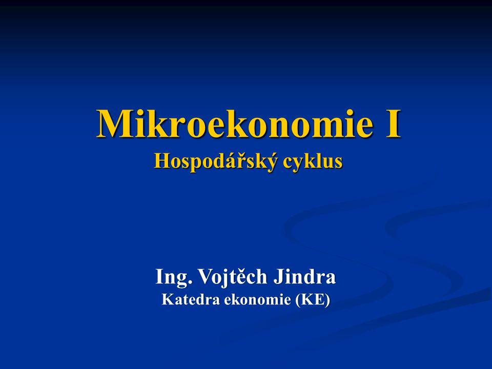 Mikroekonomie I Hospodářský cyklus Ing. Vojtěch JindraIng.
