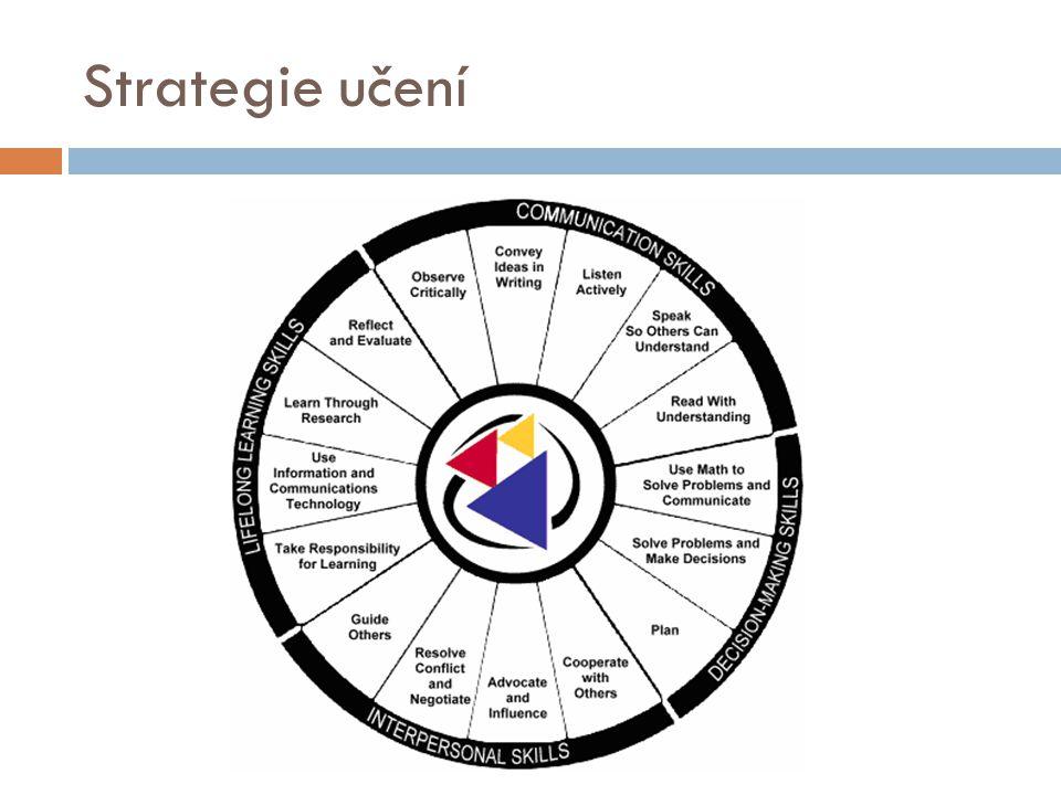 Strategie pro čtení a práci s textem  Identifikace neznámých slov  Sebedotazovací strategie  kladení si otázek ve vztahu k textu a hledání odpovědí  Strategie vytváření vizualizací  představování scén, postav  Inferenční strategie (odvozování)  Parafrázování a sumarizace  Pojmové mapování