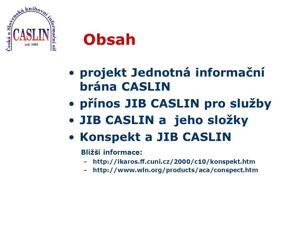 Projekty a instituce JIB Současný stav Jednotná informační brána pro hybridní knihovny – VaV (NK ČR + UK–ÚVT) Portál STM – LI (STK + 11 knihoven)