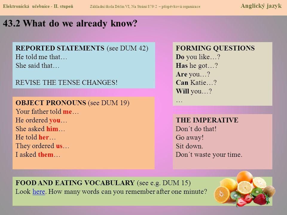 43.3 New terms - Eating out - vocabulary Elektronická učebnice - II.