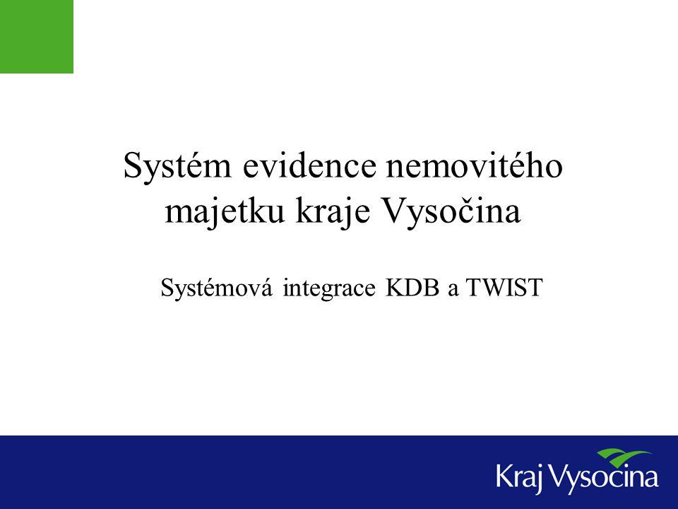 Systém evidence nemovitého majetku kraje Vysočina Systémová integrace KDB a TWIST