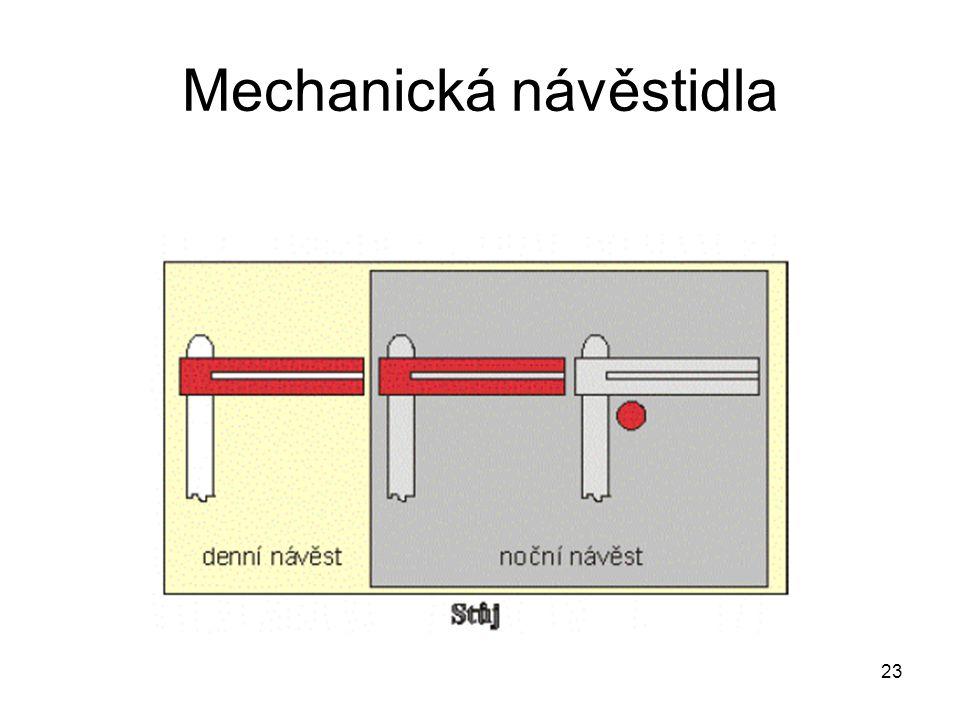23 Mechanická návěstidla