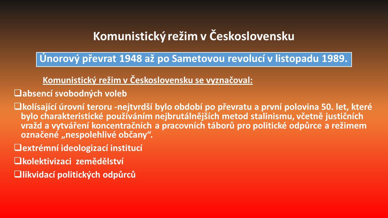 1.Vítězný únor 2.Éra stalinismu v 50.